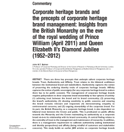 pdf corporate heritage brands and the precepts of corporate heritage brand management insights from the british monarchy on the eve of the royal wedding  [ 850 x 1093 Pixel ]