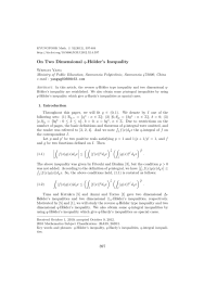 (PDF) On Two Dimensional q-Hlder's Inequality
