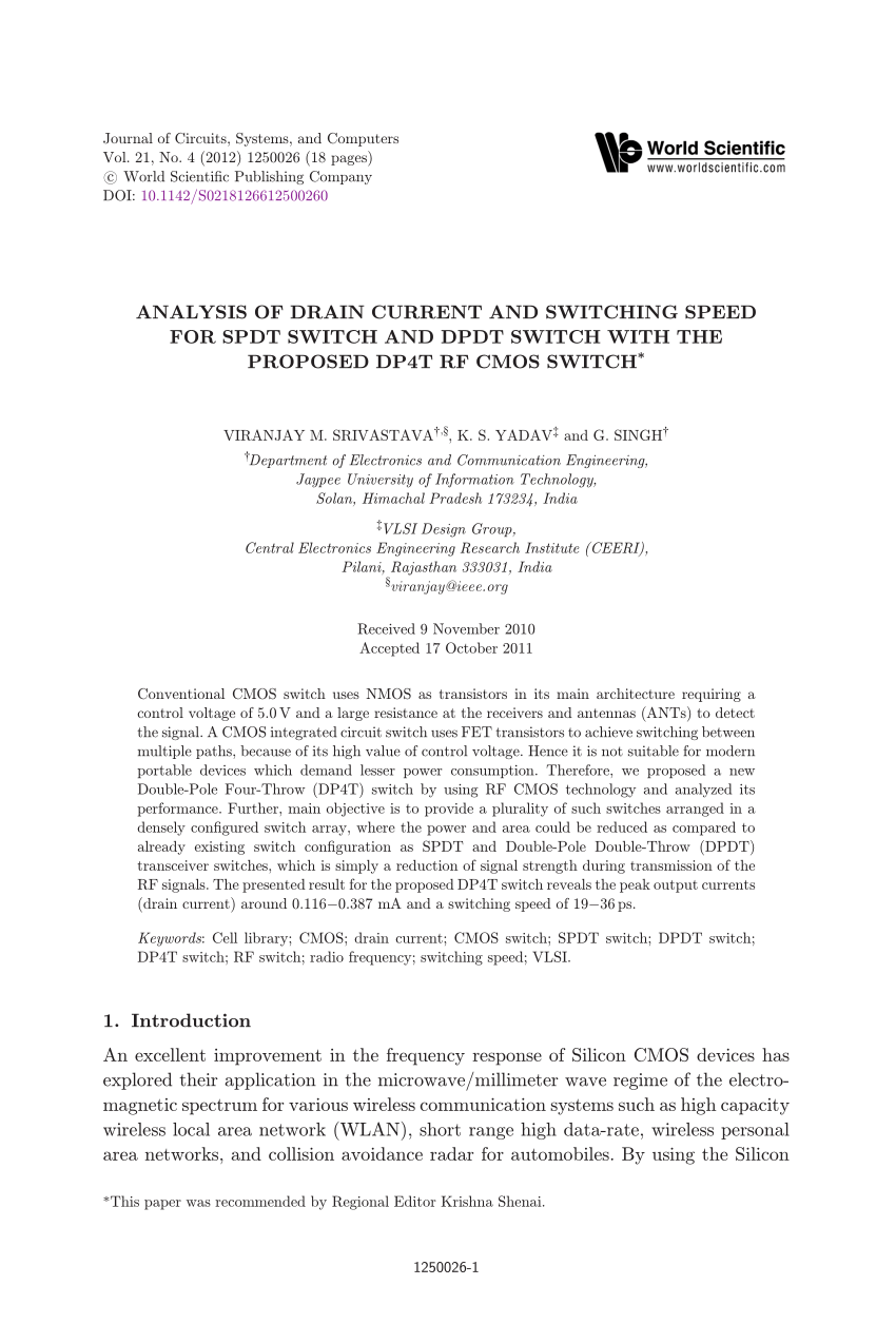 medium resolution of rf soi switch fet design and modeling tradeoffs for gsm applications request pdf
