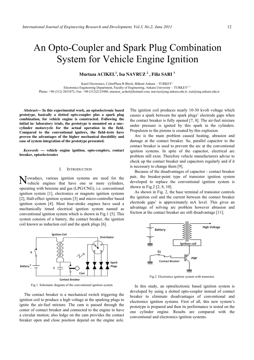 medium resolution of schematic diagram of the conventional ignition system download scientific diagram