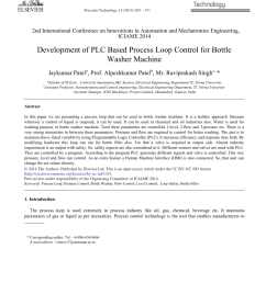 pdf development of plc based process loop control for bottle washer machine [ 850 x 1160 Pixel ]