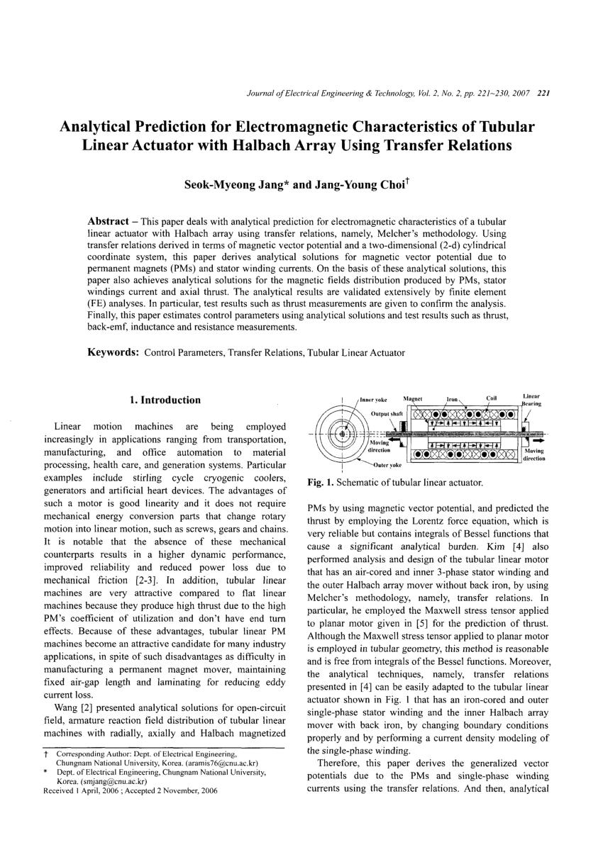 hight resolution of development of a novel direct drive tubular linear brushless permanent magnet motor won jong kim