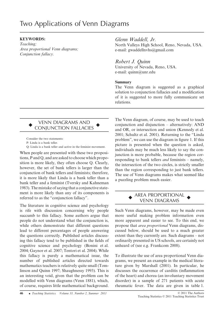 medium resolution of  pdf two applications of venn diagrams
