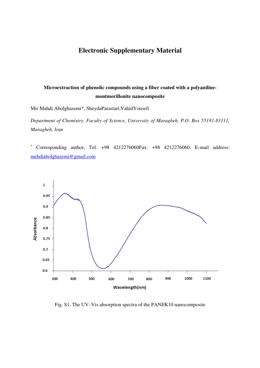 hight resolution of  pdf microextraction of phenolic compounds using a fiber coated with a polyaniline montmorillonite nanocomposite