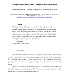 pdf development of a simple sound activated burglar alarm system [ 850 x 1203 Pixel ]