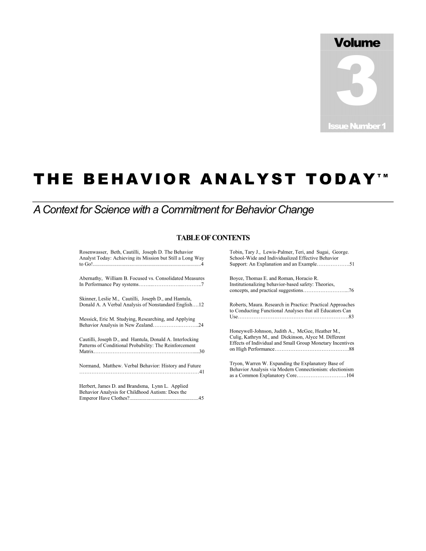 (PDF) Applied behavior analysis for childhood autism: Does