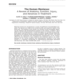 pdf the human meniscus a review of anatomy function injury and advances in treatment the meniscus anatomy function injury and treatment [ 850 x 1100 Pixel ]