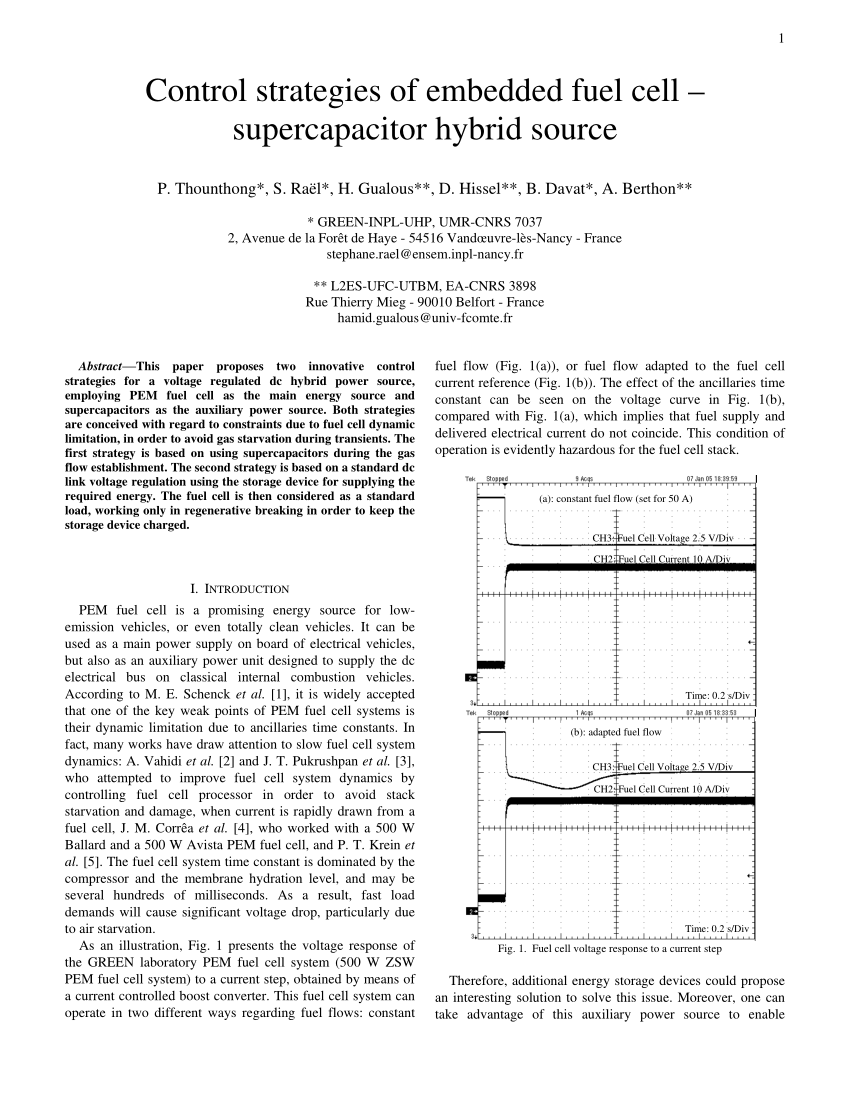 hight resolution of  pdf control strategies of embedded fuel cell supercapacitor hybrid source