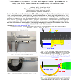 pdf vernier caliper and micrometer computer models using easy java simulation and its pedagogical design feature ideas to augment learning with real  [ 850 x 1100 Pixel ]