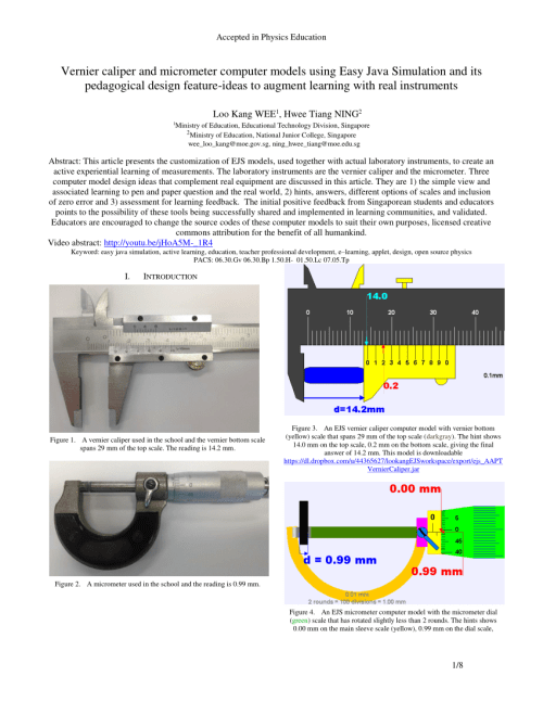small resolution of  pdf vernier caliper and micrometer computer models using easy java simulation and its pedagogical design feature ideas to augment learning with real