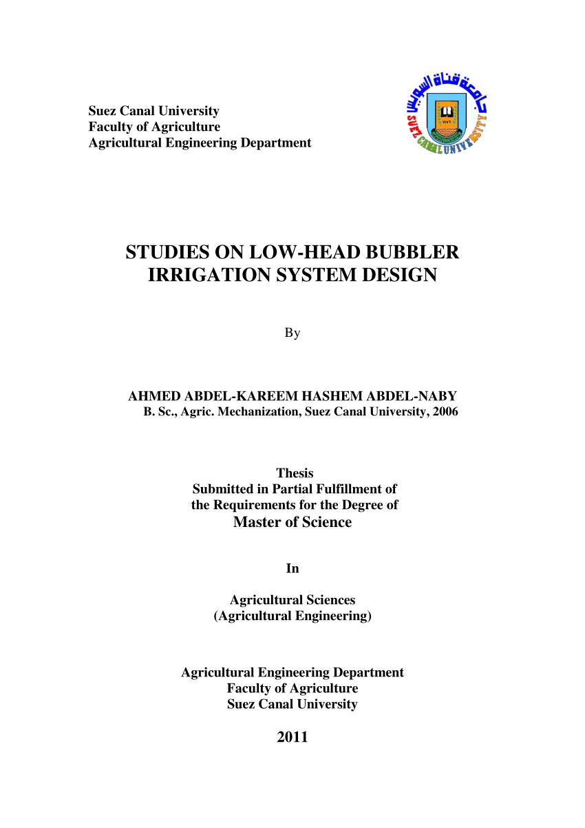 medium resolution of  pdf studies on low head bubbler irrigation system design