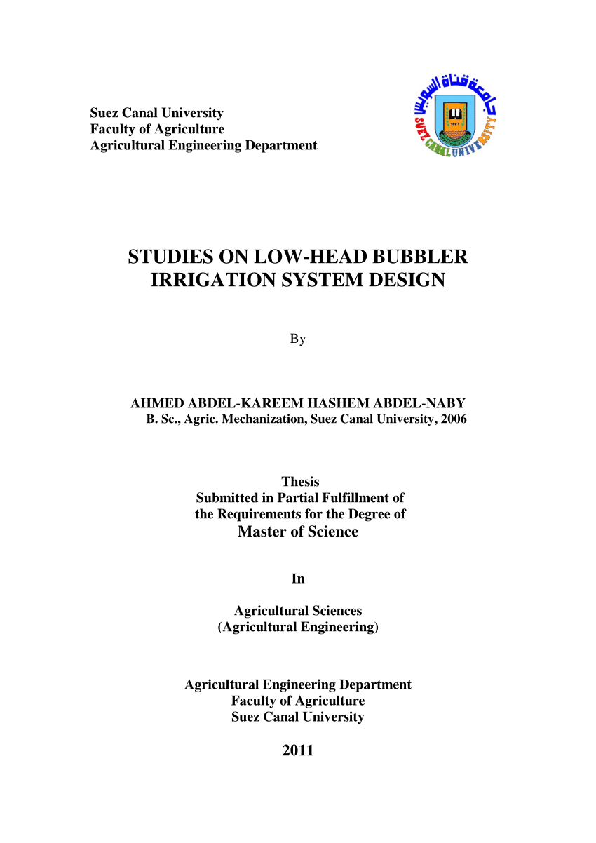 hight resolution of  pdf studies on low head bubbler irrigation system design