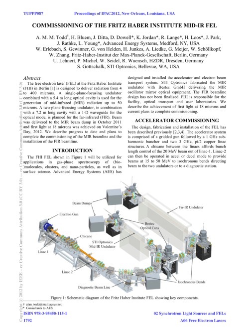 small resolution of schematic diagram of fritz haber institute free electron laser showing download scientific diagram
