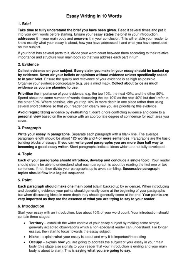 PDF) Essay Writing in 18 Words