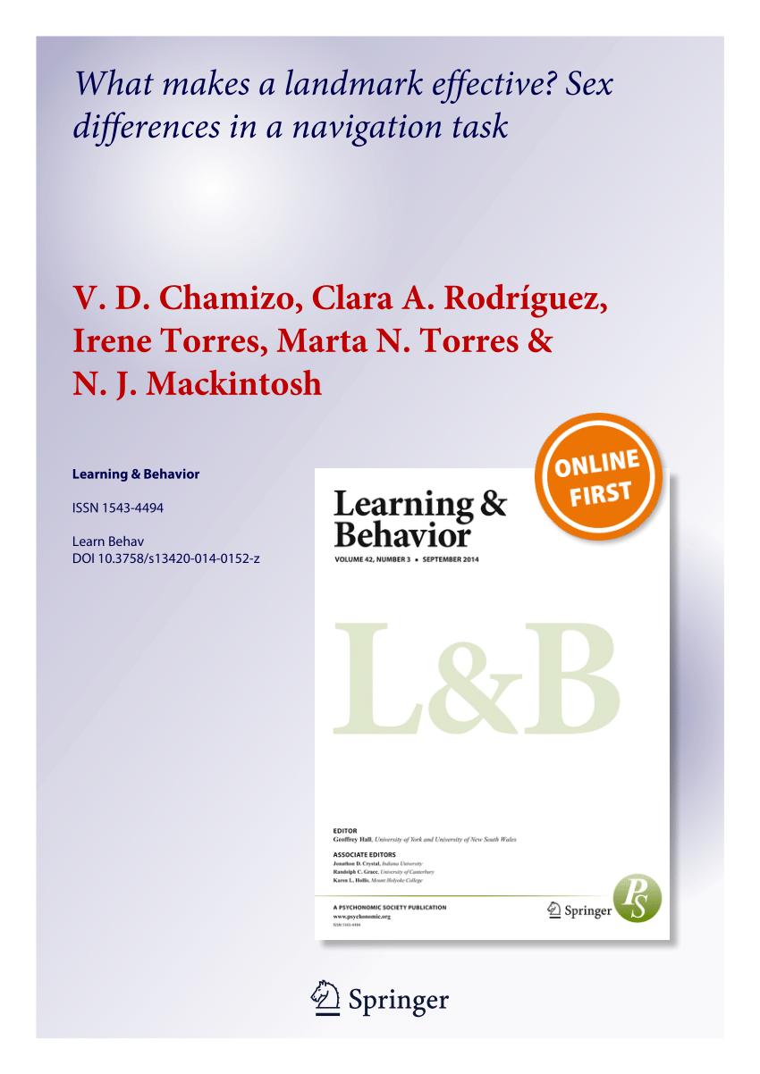 (Pdf) Landmark Vs. Geometry Learning:.