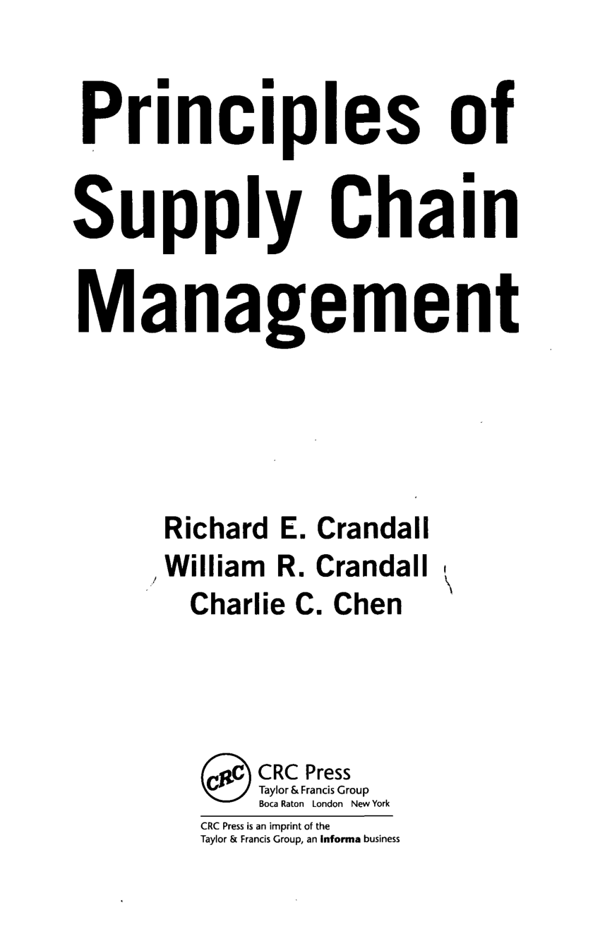 (PDF) Principles of Supply Chain Management