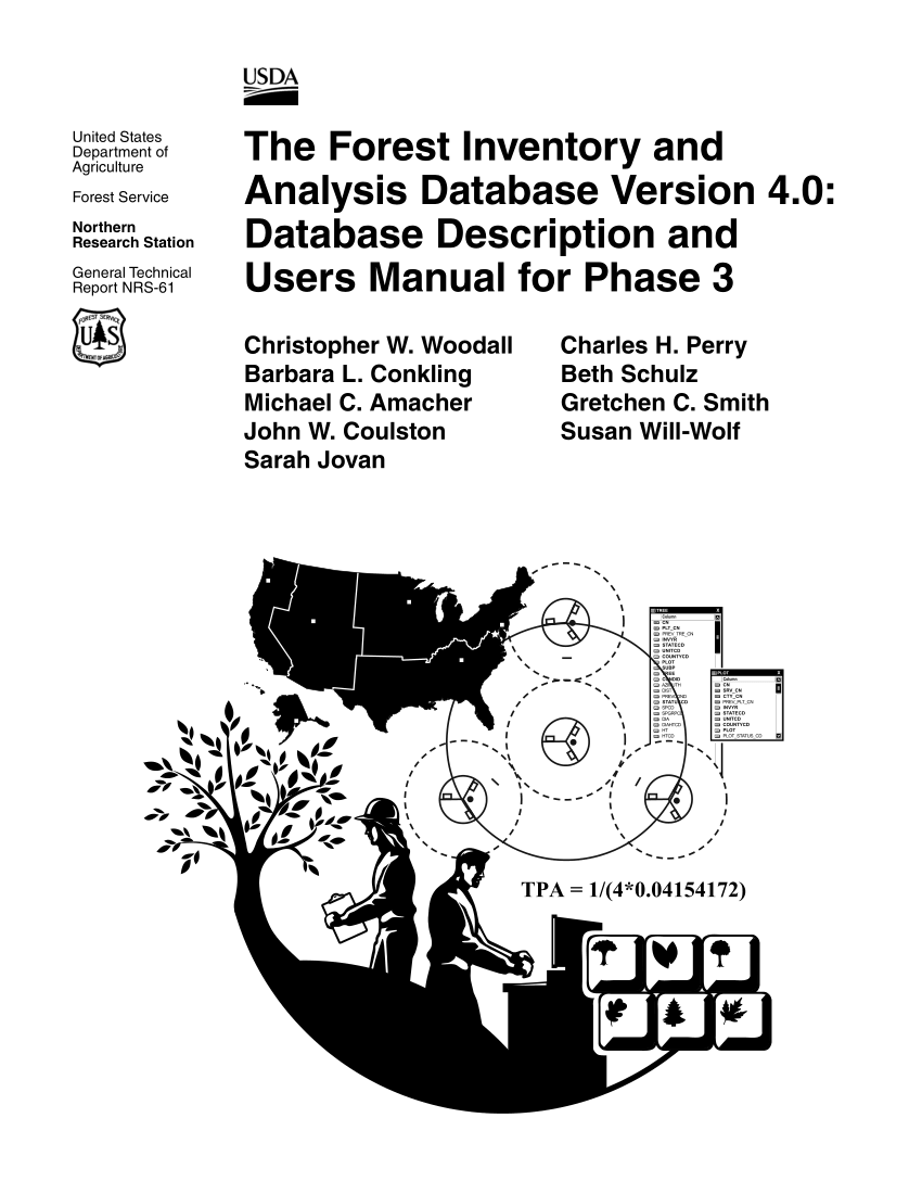 (PDF) The Forest Inventory and Analysis Database Version 4