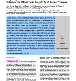pdf targeting the nrf2 prx1 pathway with selenium to enhance the efficacy and selectivity of cancer therapy [ 850 x 1203 Pixel ]