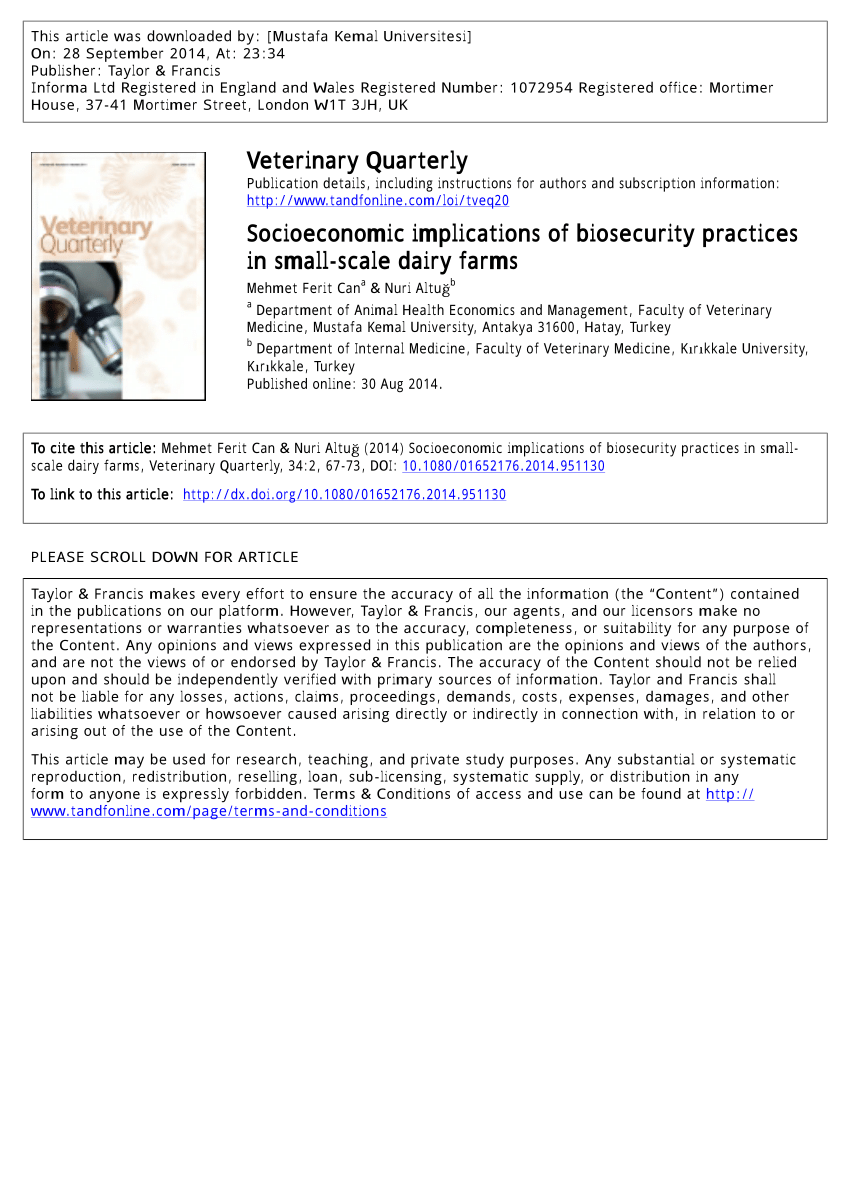 medium resolution of  pdf socioeconomic implications of biosecurity practices in small scale dairy farms