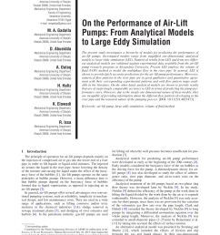 pdf on the performance of air lift pumps from analytical models to large eddy simulation [ 850 x 1124 Pixel ]