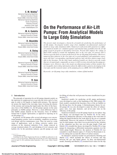 small resolution of  pdf on the performance of air lift pumps from analytical models to large eddy simulation