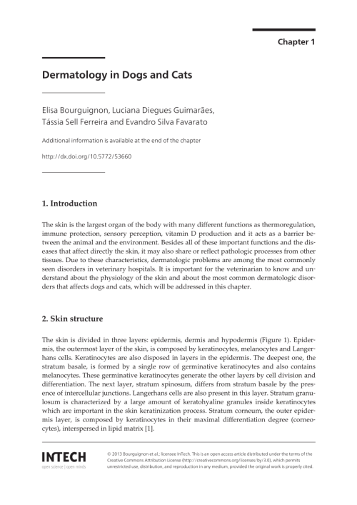 small resolution of  pdf dermatology in dogs and cats