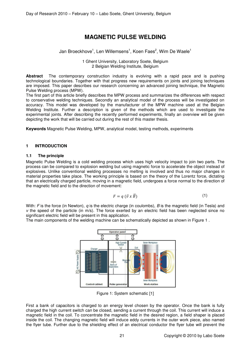 PDF Magnetic Pulse Welding