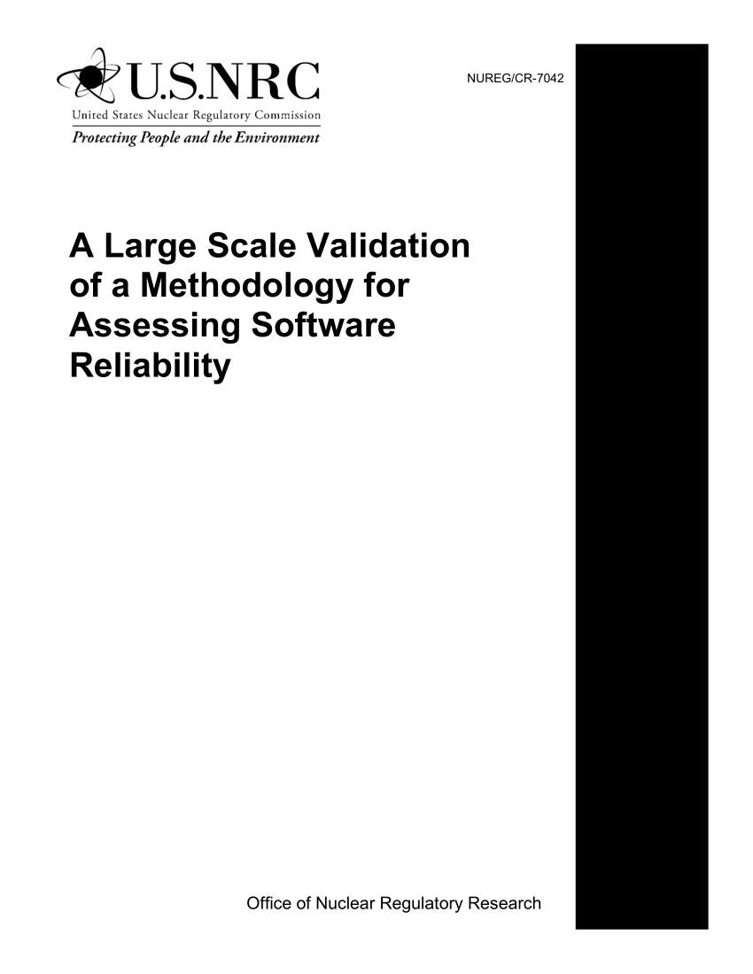 (PDF) A Large Scale Validation of a Methodology for