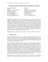 (PDF) Estimating Modulus of Subgrade Reaction for Rigid ...