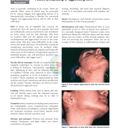 pdf patient perception on precipitating or aggravating factors for papular acne acne cosmetica diagram [ 850 x 1100 Pixel ]