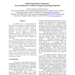 Nserc Chair Design Engineering Toddler Table And Chairs Plastic Pdf Competency Perceived Barriers To Effective Education