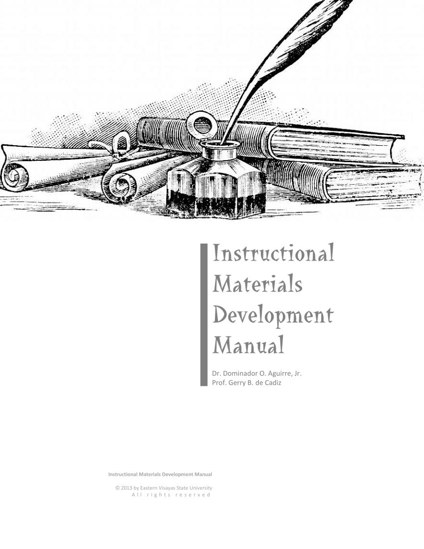 (PDF) Instructional Materials Development Manual