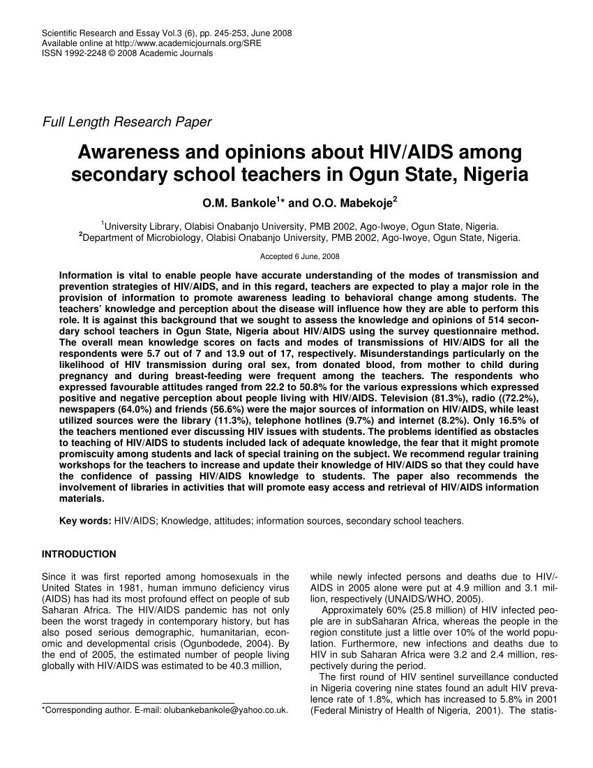 hiv essay paper   ivoiregion