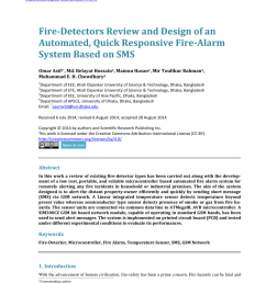 pdf fire detectors review and design of an automated quick responsive fire alarm system based on sms [ 850 x 1153 Pixel ]