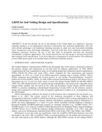 (PDF) LRFD for Soil Nailing Design and Specifications