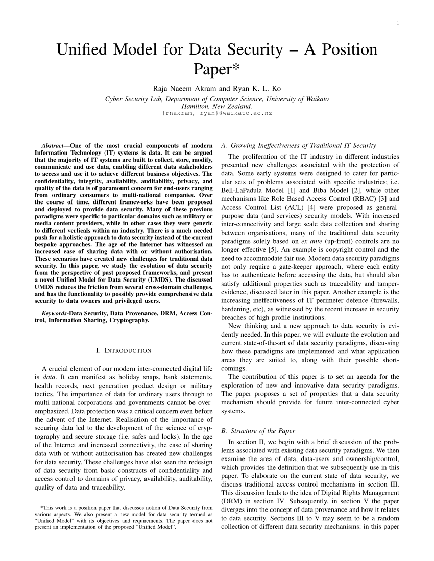 Database Security Research Paper Pdf