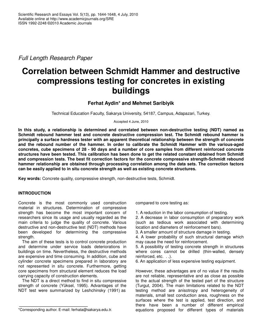 Rebound Adalah : rebound, adalah, Correlation, Between, Schmidt, Hammer, Destructive, Compressions, Testing, Concretes, Existing, Buildings