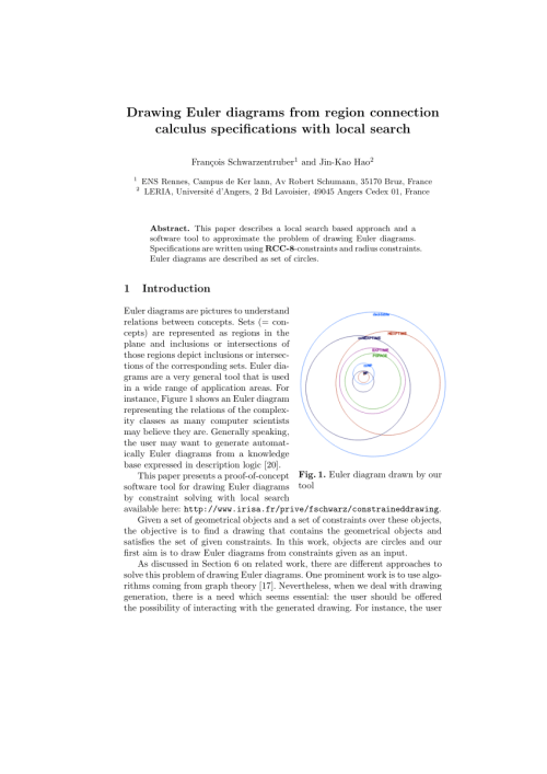 small resolution of  pdf drawing interactive euler diagrams from region connection calculus specifications