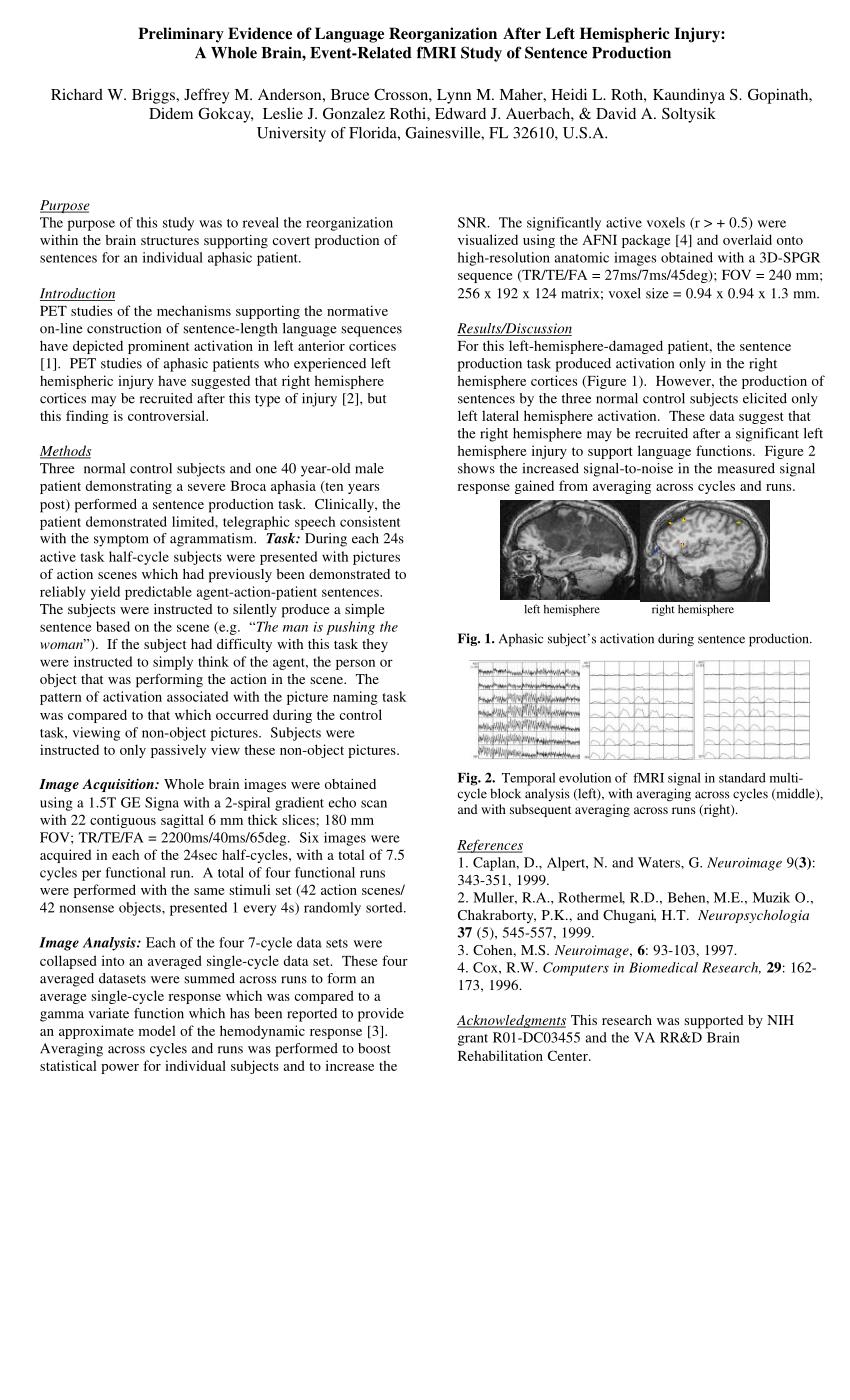 (PDF) Preliminary Evidence of Language Reorganization
