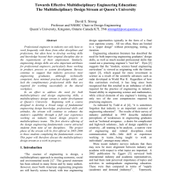 Nserc Chair Design Engineering Swivel Small Space Pdf Towards Effective Multidisciplinary Education The Stream At Queen S University