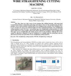 pdf a review on innovation of wire straightening cutting machine [ 850 x 1203 Pixel ]