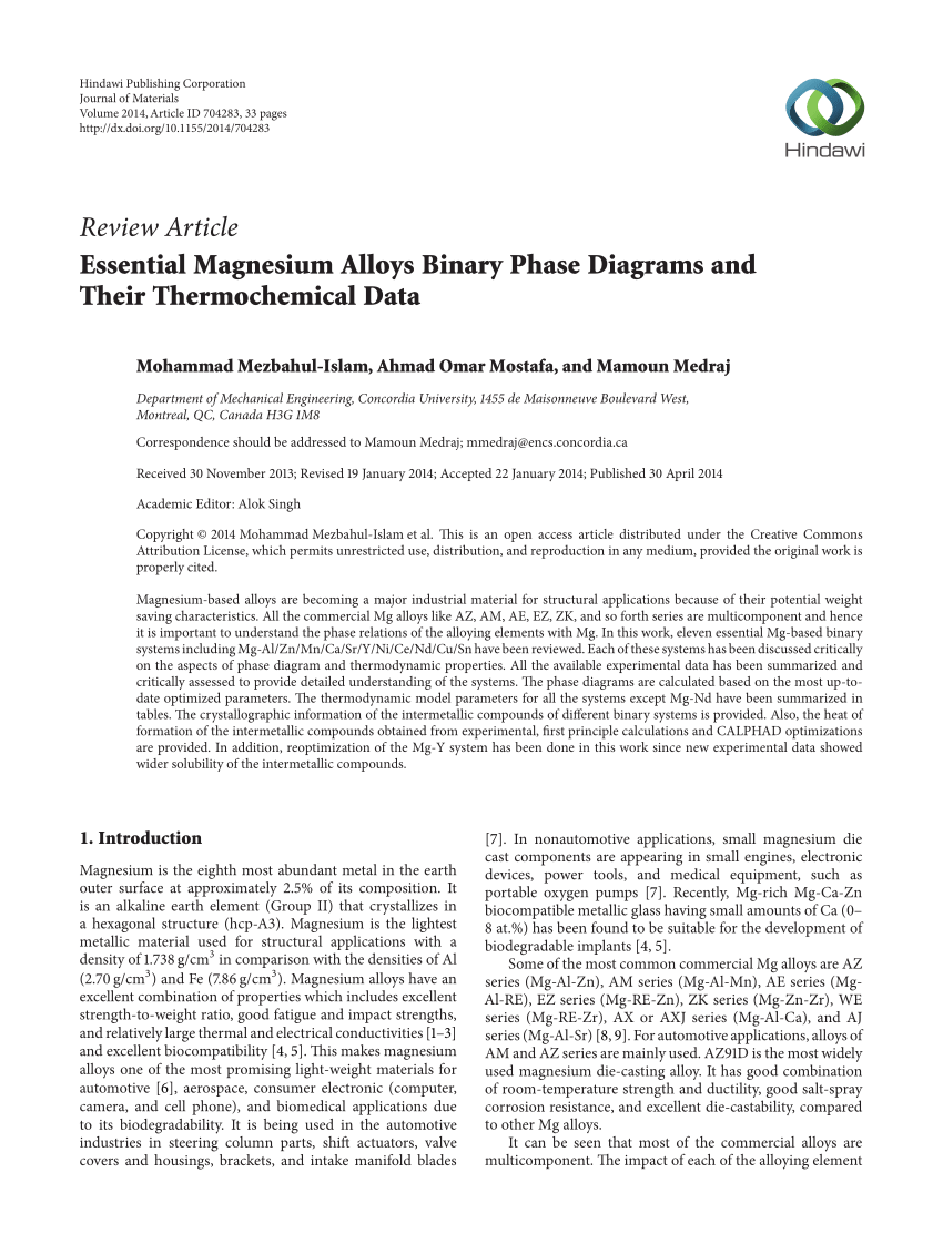 medium resolution of  pdf essential magnesium alloys binary phase diagrams and their thermochemical data