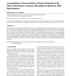 pdf accumulation characteristics of some elements in the moss polytrichum commune bryophytes based on xrf spectrometry [ 850 x 1155 Pixel ]