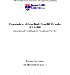 pdf characteristics of gated diode based dram under low voltage [ 850 x 1202 Pixel ]