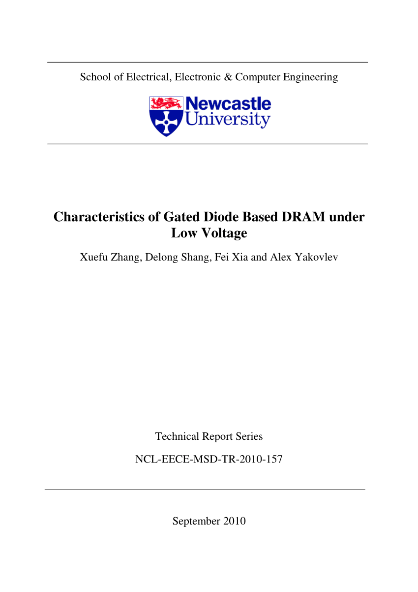 hight resolution of  pdf characteristics of gated diode based dram under low voltage