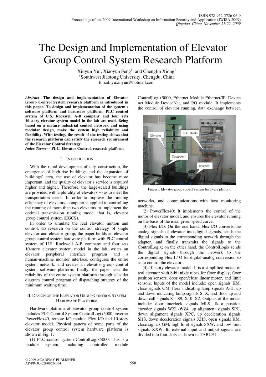 medium resolution of  pdf pi control of laboratory model elevator via ladder logic in plc