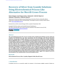 pdf recovery of silver from cyanide solutions using electrochemical process like alternative for merrill crowe process [ 850 x 1155 Pixel ]