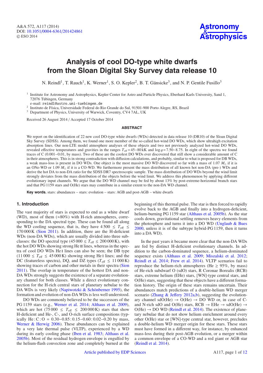 medium resolution of  pdf new evolutionary sequences for hot h deficient white dwarfs on the basis of a full account of progenitor evolution