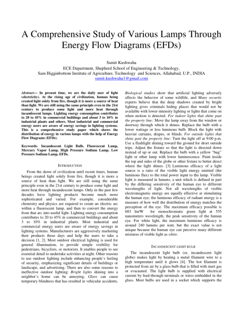 small resolution of  pdf a comprehensive study of various lamps through energy flow diagrams efds