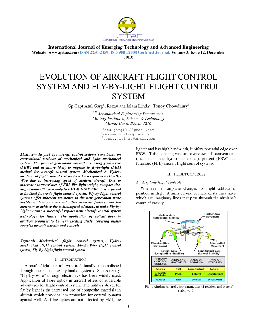medium resolution of  pdf evolution of flight control system fly by light control system